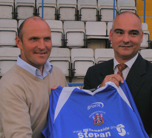 Steve Burr and chairman Rob Gorski