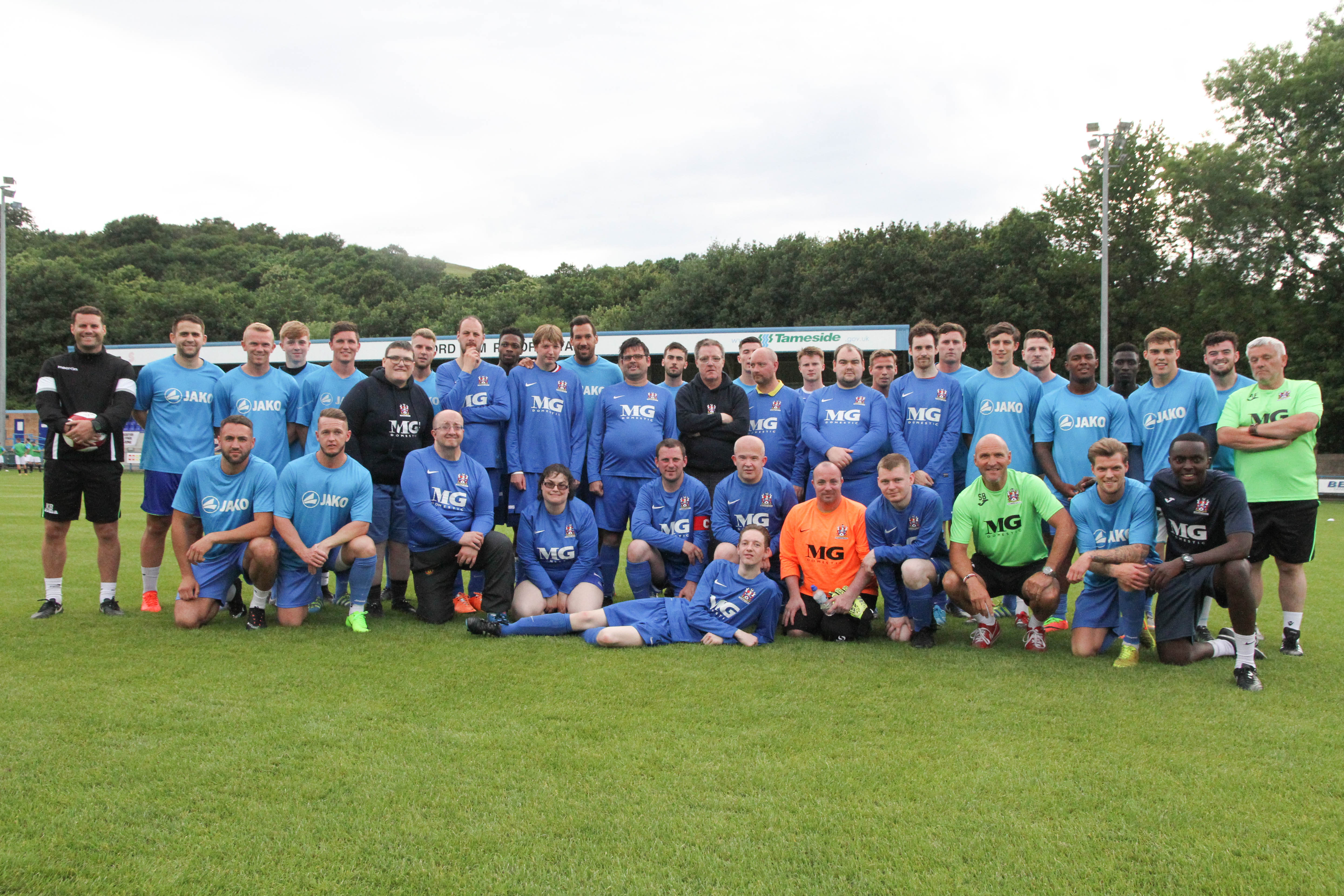 Players and Management support Disability Team